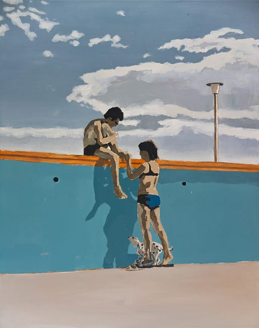 Swimming Pool II. Acrylic on canvas, 80 x 100 cm, 2013