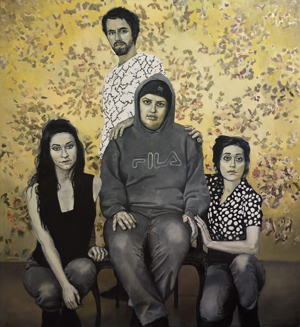 The Strange Family. Oil on canvas, 180 x 200 cm, 2013