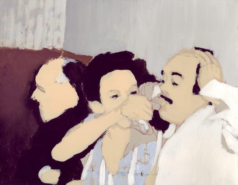 Brindis III . Gouache on cardboard, 25 x 20 cm, 2013