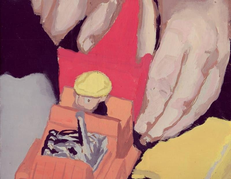 Juguete I . Gouache on cardboard, 25 x 20 cm, 2013