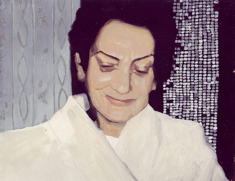 Lola I . Gouache on cardboard, 25 x 20 cm, 2013