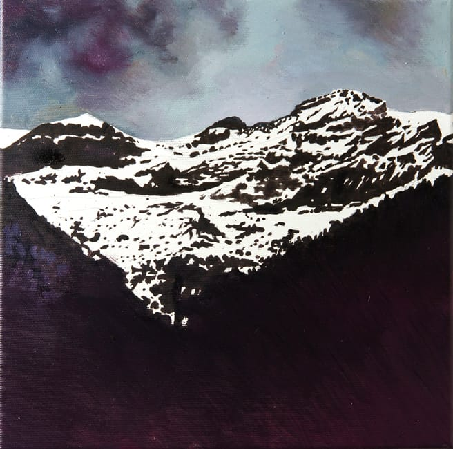 Monte Perdido I. Oil on canvas, 30 x 30 cm, 2016