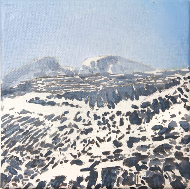 Monte Perdido II.  Oil on canvas, 20 x 20 cm,  2016
