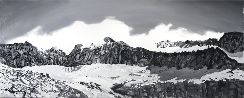Picos Malditos.  Oil on canvas, 100 x 40 cm,  2015