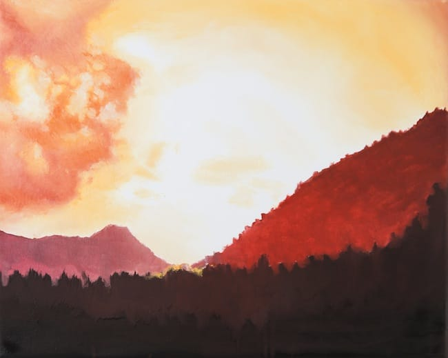Vallibierna Sunset. Oil on canvas, 50 x 40 cm, 2015